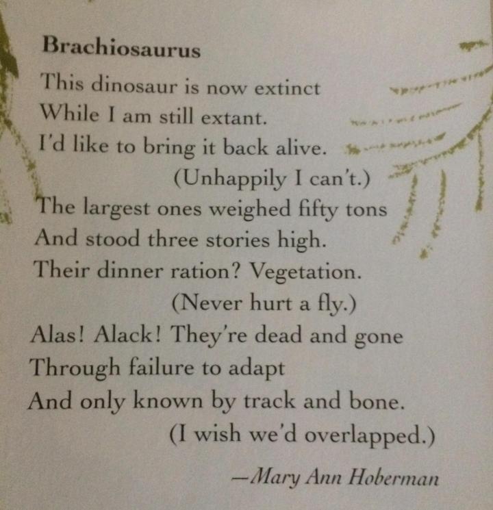Brachiosaurus poem