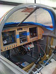 Interior @ windscreen fiberglass prep